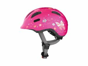 Abus Kinderhelm Smiley M pink butterfly
