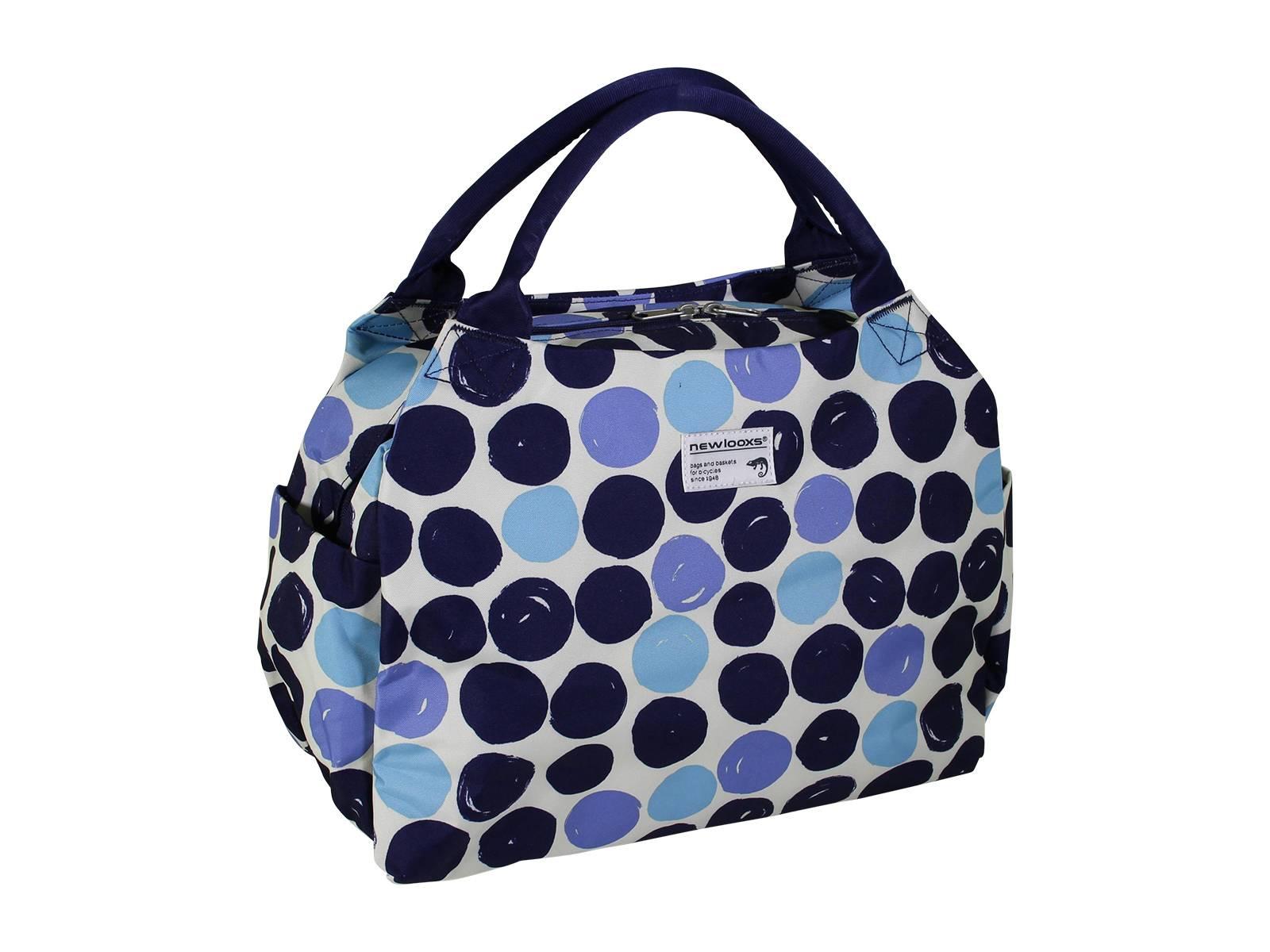 new looxs fahrradtasche gep cktr ger tosca dots blau. Black Bedroom Furniture Sets. Home Design Ideas