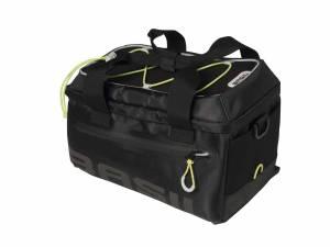 Basil Gepäckträgertasche Miles, schwarz lime