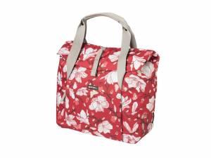 Basil Magnolia Fahrradtasche Gepäckträger poppy red
