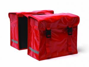 New Looxs Fahrradtasche Gepäckträger Bisonyl rot