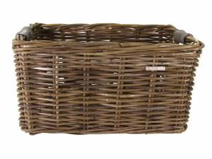 Basil Fahrradkorb vorne rattan Dorset L grau