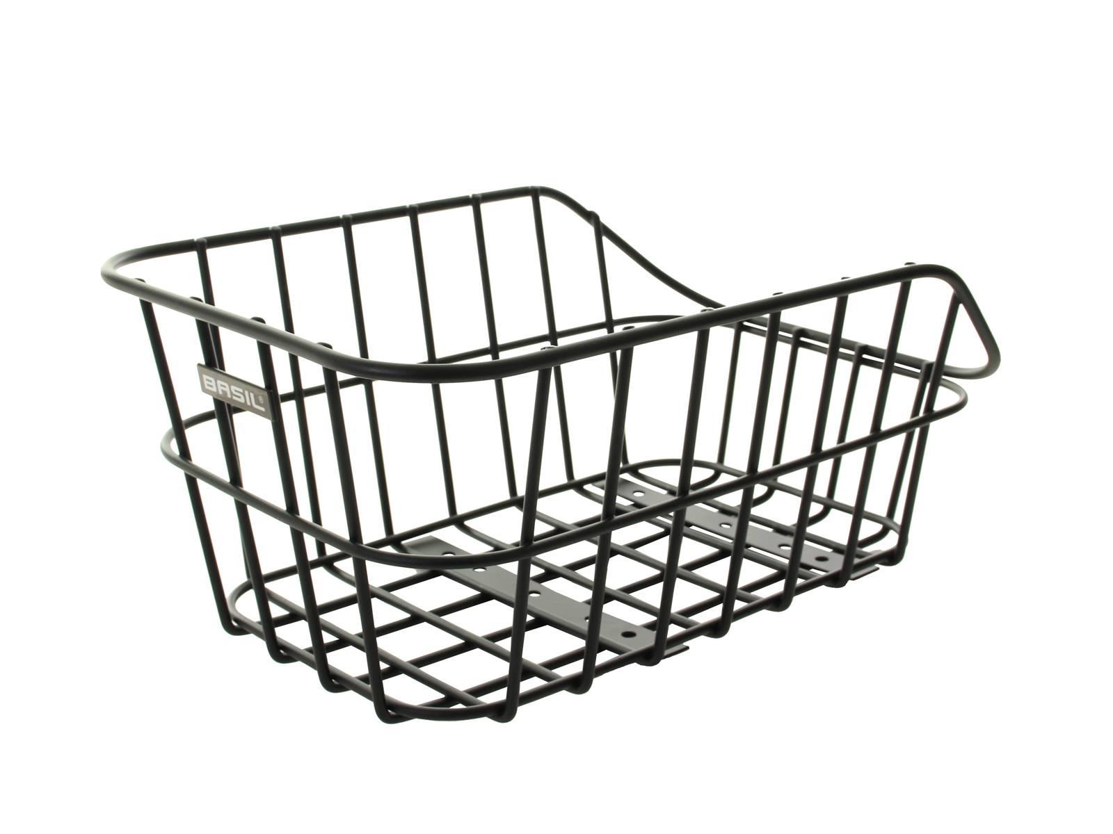 basil fahrradkorb hinten cento alu schwarz fahrradkomfort. Black Bedroom Furniture Sets. Home Design Ideas