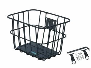 AROUND Fahrradkorb vorne ACE VR ALU FIX inkl. Befestigungsmaterial, matt schwarz
