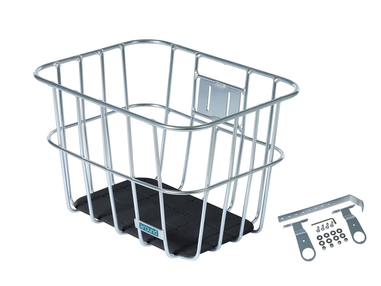 AROUND Fahrradkorb vorne ACE VR ALU FIX inkl. Befestigungsmaterial, Alu
