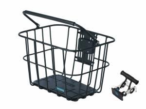 AROUND Fahrradkorb vorne ACE VR ALU inkl. Lenkerhalter, matt schwarz