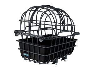 AROUND Tierfahrradkorb LUNA XL, mit teilbarem und abnehmbarem Schutzgitter inkl. Fix System, black matt