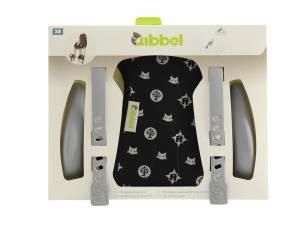Qibbel Luxus styling set Fahrrad Kindersitz vorne Family Black