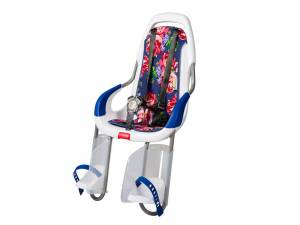 Qibbel To Go Fahrrad Kindersitz hinten Roses blauw