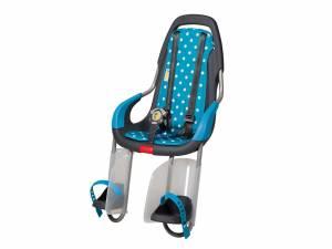 Qibbel To Go Fahrrad Kindersitz hinten Polka Dots blau