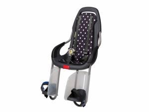 Qibbel To Go Fahrrad Kindersitz hinten Polka Dots schwarz