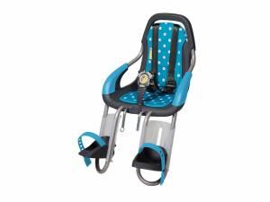 Qibbel To Go Fahrrad Kindersitz vorne Polka Dots blau
