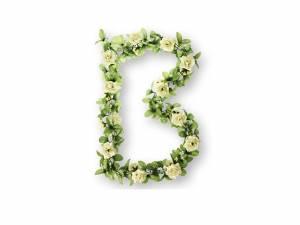 Basil Blumengirlande Rosen weiß