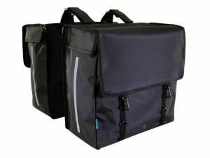 AROUND doppelte Fahrradtasche Gepäckträger SOFT, schwarz