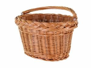 AROUND Weide Fahrradkorb vorne Willow Basic oval, naturfarbig