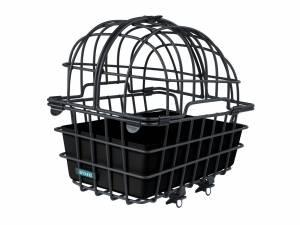 AROUND Tierfahrradkorb LUNA, mit teilbarem und abnehmbarem Schutzgitter inkl. Fix System, black matt