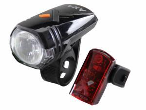 AXA Greenline 35 Lux Usb Fahrrad Beleuchtungssatz aufladbar