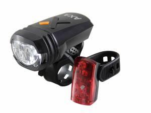 AXA Greenline 50 Lux Fahrrad Beleuchtungssatz Usb aufladbar